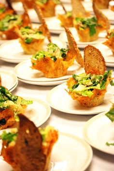 Love these mini hors d'oeuvres for cocktail hour! #wedding #food {MK Catering}