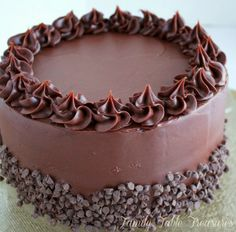 Chocolate Blackout Cake - This deep dark chocolate cake is filled with creamy chocolate gananche and then frosted with another layer of ganache to complete your total blackout experience. Chocolate Blackout Cake will have you in complete chocolate ecstasy!