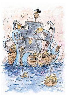 The Kraken by YellowHamster on Etsy