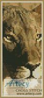 Lioness Bookmark Cross Stitch Pattern http://www.artecyshop.com/index.php?main_page=product_info&cPath=26&products_id=470