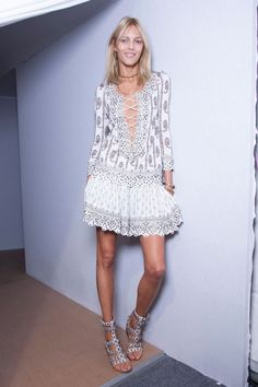 Anja Rubik at Isabel Marant S/S 2013 backstage [source: studded hearts]