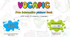 Vocapic - an online, interactive picture dictionary in English, French, and Spanish