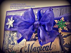 Close up of bow on December Craft-Dee BowZ Challenge inspiration