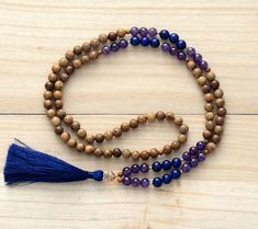 Wood and Natural Stone Mala
