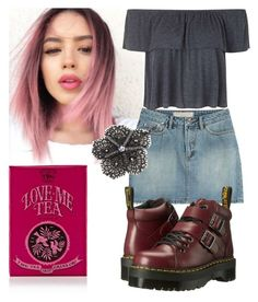 Short skirt by lilithofthedamned on Polyvore featuring polyvore, fashion, style, Topshop, Dr. Martens, Jane Tran, Marc by Marc Jacobs and TWG Tea Company