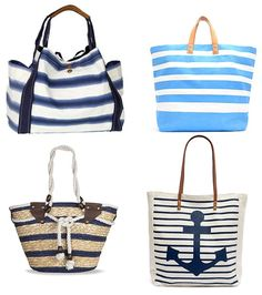 bolsos playa rayas marineras