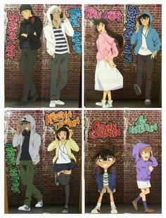 Detective Conan Ran x Shinichi Heiji x Kazuha Ai and Conan