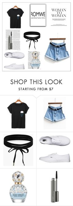 """Bez naslova #5"" by selma-ca ❤ liked on Polyvore featuring Boohoo, Vans, Balmain, Marc Jacobs and MAC Cosmetics"
