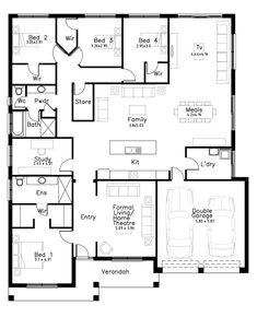Rochelle - Dechellis Homes - Modern House Floor Plans, Dream House Plans, Master Bedroom Bathroom, Apartment Layout, Barbie Dream House, Tiny House Design, House Layouts, House Goals, Plan Design