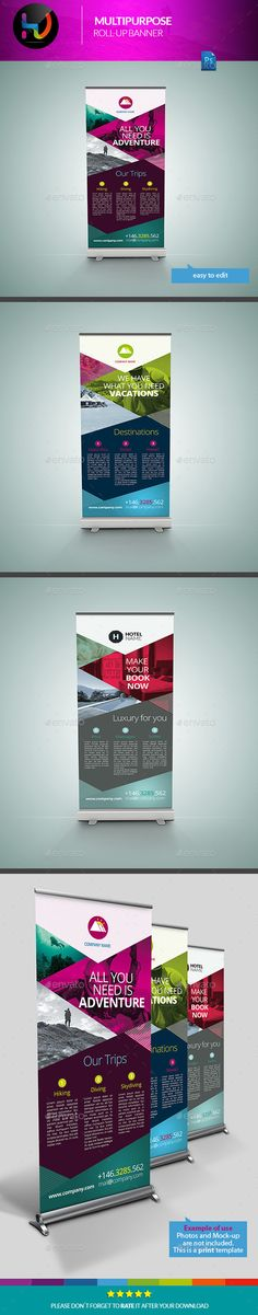 Multipurpose Banner Signage 1  #PSD #30x70 #corporate • Click here to download ! http://graphicriver.net/item/multipurpose-banner-signage-1/11794388?s_rank=23&ref=pxcr