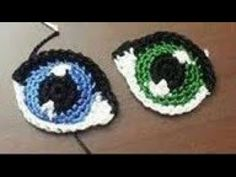 For dolls, amigurumi / fr PuppenHow to Embroider eyes for Amigurumi Crochet Doll Mermaid (Part – BuzzTMZ Crochet Eyes, Crochet Teddy, Crochet Patterns Amigurumi, Cute Crochet, Crochet Dinosaur, Crochet Unicorn, Knitted Dolls, Crochet Dolls, Crochet Doll Tutorial