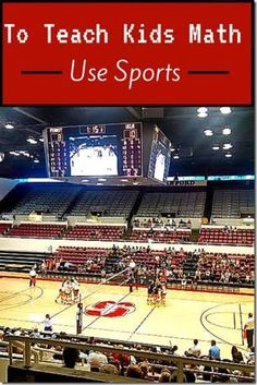 Use sports to teach kids math! There are so many different ways to learn math through sports - for all ages! Great ideas in this post!