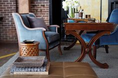 Interior designer Bill Peace designed this living room for our spring catalog Ballard Designs, Catalog, Peace, Living Room, Interior Design, Spring, Diana, Table, Desk