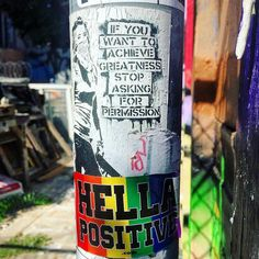 Some Pure Happiness and Positivity and Inspiration from the friends over at @hellapositive !  #banksy #obey #stickerslap #stickermurah #stickerporn #stickerslaps #sticker #stickers #vsco #vibes #vscocam #street #streetphotography #fashion #art #clothes #clothtalk #dress #fashion #sewing #sf #wow #loveit #iwant #coachella #colorful #instagood #instalike #instalove #instamood