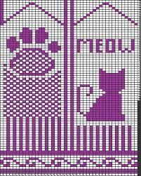Bilderesultat for pattern for cat mittens Crochet Mittens Free Pattern, Crochet Scarf Easy, Crochet Dolls Free Patterns, Knit Mittens, Knitted Gloves, Knitting Charts, Knitting Stitches, Knitting Patterns, Gato Crochet