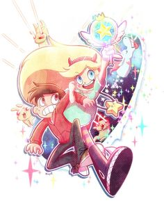 Star Butterfly and Marco Diaz // Star vs. the forces of evil // Disney Starco, Cartoon Shows, Star Vs The Forces Of Evil, Evil Art, Anime, Cartoon, Evil, Fan Art, Stars