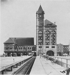 Illinois Central Station, 135 E. 11th Place (1893-1974)   In anticipation of the World's Columbian Exposition in 1893, the Illinois Central ...