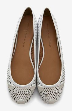 Marc by Marc Jacobs White Ballet Flat