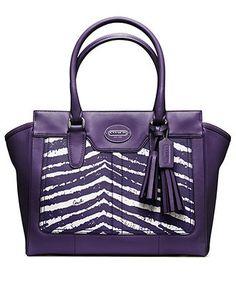COACH LEGACY ZEBRA PRINT MEDIUM CANDACE CARRYALL - Coach Handbags - Handbags & Accessories - Macys