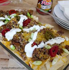 These low carb beef nachos are perfect for parties!