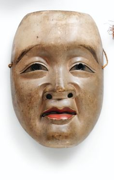 Paper maché and lacquer mask, 18th/19th century, Japan.