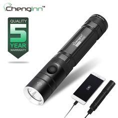20000 Lumens LED Torch Flashlight Rechargeable 18650 USB Mini Beam Focusing FE