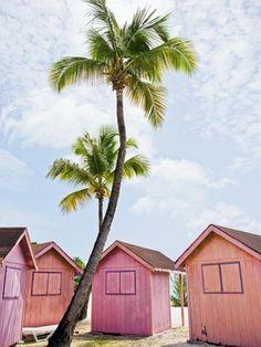 Pink huts. #splendidsummer