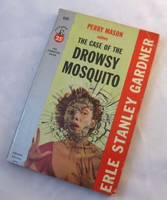 Perry Mason solves the Case of the Drowsy Mosquito. By Erle Stanley Gardner. Pocket Books 1955. vintage mystery fiction. by PickleladyVintage on Etsy