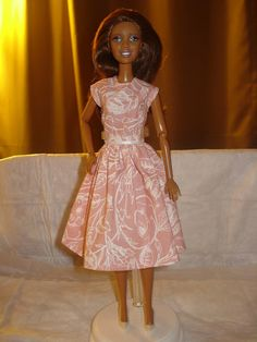 Modest pink and white floral dress for by KelleysKreationsLV, $6.50