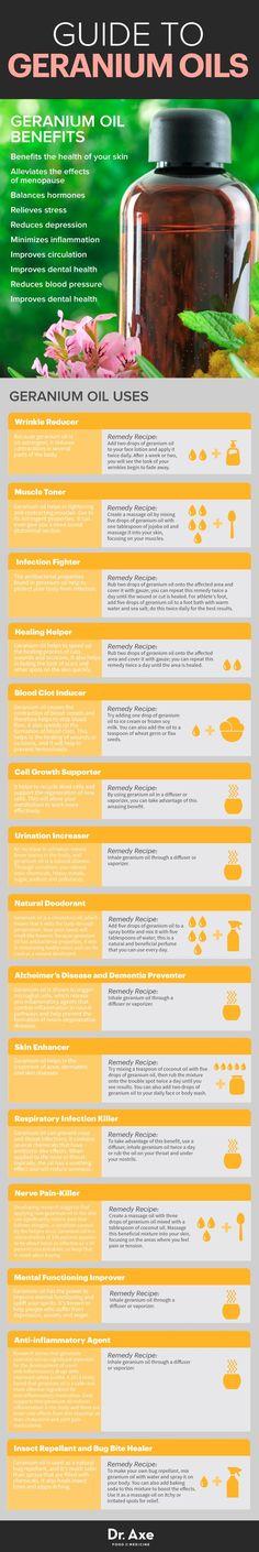 Guide to geranium essential oil www.draxe.com #health #holistic #natural