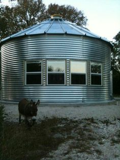 Chicken Coop - - Hey look close I think its the Clydesdale Donkey Building a chicken coop does not have to be tricky nor does it have to set you back a ton of scratch. Building A Chicken Coop, Building A House, Silo House, Grain Silo, Barn Apartment, Building Concept, Pole Barn Homes, Round House, Shipping Container Homes