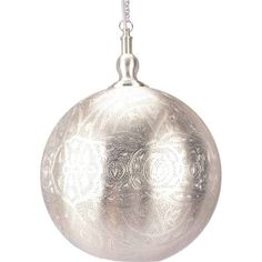 Shop Moroccan Ball Pendant Silver Large at Interiors Online. Exclusive High End Furniture. OFF First Order & Australia Wide Delivery Moroccan Ceiling Light, Moroccan Lighting, Ceiling Pendant, Ceiling Lights, Perforated Metal, Moroccan Style, Hanging Lights, Interior Lighting, Lighting Ideas