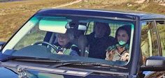 The Cambridges join the Queen and Prince Phillip on the Queens Balmoral estate to end this year's (2016) summer. Here the Queen is driving Kate to a family picnic to join William, George and Charlotte - September 2016