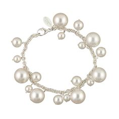 Have fun with your pearls! Bauble bracelet of Swarovski pearls and sterling silver by petitemargaux.com