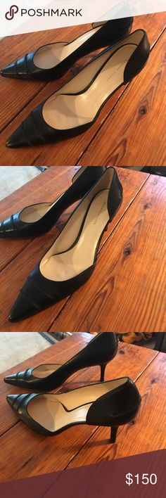 Never Worn Black Etienne Aigner Heels Sz 10 Brand new pair of beautiful heels. Note the bottom of left shoe has a faint stain. Otherwise perfect condition. Made in Spain. 3 in heels.  ***reduced***. Reasonable offers considered!! Pl note I do not have the box they came in. Etienne Aigner Shoes Heels