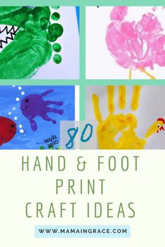 As a mom myself, i love to have and receive hand and foot print crafts from my kids. Of course, the insane amount of crafts Toddler Art, Toddler Crafts, Preschool Crafts, Baby Crafts, Crafts To Do, Crafts For Kids, Kids Diy, Painting For Kids, Art For Kids