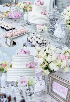 #PINK & #GREY #WEDDING ♡ How to plan a Wedding Reception ♡ https://itunes.apple.com/us/app/the-gold-wedding-planner/id498112599?ls=1=8  ♡ Weddings by Colour ♡ http://www.pinterest.com/groomsandbrides/ #wedding #bridal #cakes