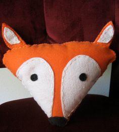 not a pattern Felt Fox Pillow by LovelyLittleLois on Etsy, $15.00