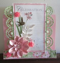 Celebration Card - Couture Creations | Graphic 45 - Scrapbook.com