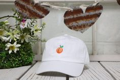 Hey, I found this really awesome Etsy listing at https://www.etsy.com/listing/272468250/peach-baseball-hat-low-profile