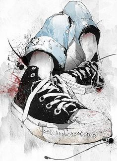 Love drawing converse shoes