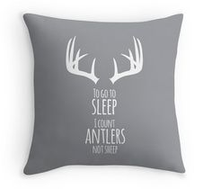 Antler Decorative Throw Pillow Cover with the by mallorylynndecor, $32.00