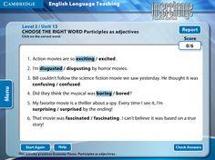 Interchange 4th Edition Arcade: Cambridge University Press - Level 2/Unit 13 - Choose The Right Word