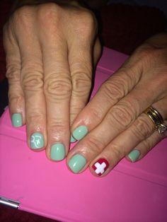 Roger Federer nail art