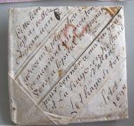 Met behulp van geavanceerde scantechnieken zullen ongeopende brieven gelezen kunnen worden zodat ze in gevouwen toestand bewaard kunnen blijven (Beeld:  ©Signed, Sealed & Undelivered Team, 2015. Met permissie van het Museum voor Communicatie, Den Haag)
