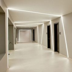 Products Delta Light - Lighting Ceiling - Ideas of Lighting Ceiling - Products Delta Light Corridor Lighting, Linear Lighting, Cove Lighting, Interior Lighting, Track Lighting, Ceiling Light Design, False Ceiling Design, Modern Ceiling, Ceiling Lights