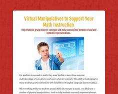 Virtual Manipulatives to Support Your Math Instruction