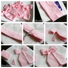 ▷ Napkins folding ideas for the best baby shower – BuzzTMZ Baby Shower Wall Decor, Girl Baby Shower Decorations, Birthday Decorations, Baby Shower Themes, Cadeau Baby Shower, Baby Shower Napkins, Baby Shower Cakes, Baby Party, Baby Shower Parties