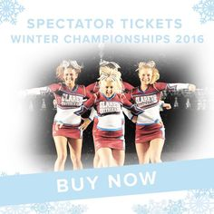Spectator tickets for the Winter Championships 2016 are now on sale! Go to: http://ift.tt/2cVSaGz #Cheer