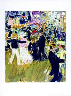 Kees van Dongen, 'Moulin de la Galette' Lithograph, 1965